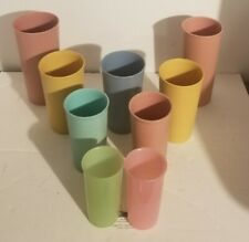 Vintage Tupperware Tumbler Cups 107-20 873-39 116-21 117-24 Pink Gold Blue Green