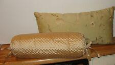 "Lot of 2 - Decorative Throw Pillows (1 - Bolster 17"" & 1 - Rectangle 24"")"