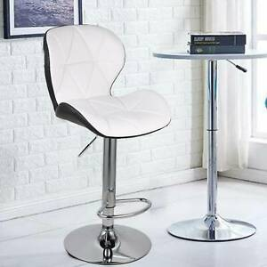 Bar Stools Leather Chairs Breakfast Chairs Swivel Gas Lift Kitchen Cushioned New