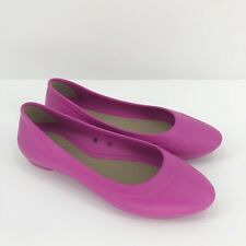Crocs Lina Ballet Flats Size 7 Pink Iconic Comfort Slip On