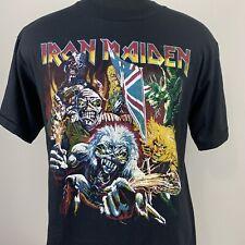 Vintage Iron Maiden T Shirt Metal Double Side Tee Single Stitch 90s Concert Tour