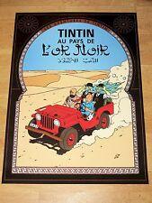 TINTIN POSTER LARGE - AU PAYS DE L´OR NOIR / BLACK GOLD - 70 x 50 cm MINT NEW