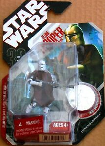 Star Wars 30th ANNIVERSARY Hasbro #50 CLONE TROOPER Hawkbat Battalion Figure MOC