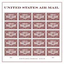 USPS Forever Postage Stamps 'Air Mail Commemorative - Red' Sheet of 20