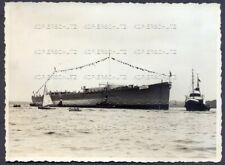 Foto Kriegsmarine Schwerer Kreuzer Blücher Stapellauf Kiel 1937