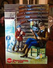 Repro Remington Umc Man & Son Hunting Cabin Standing Advertising Die Cut