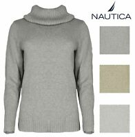 Nautica Women's Soft Knitted Turtle Neck Long Sleeve Semi Fitted Sweater Variety