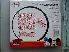 Disney`s Mickey Mouse & Friends Embossing Folders BNIP - Merry Christmas