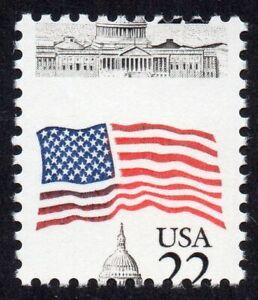 2114 22¢ Flag misperf MNH