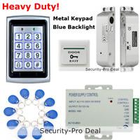 125KHz RFID Card+Password Door Access Control+ Electric Drop Bolt Lock+ ID Cards