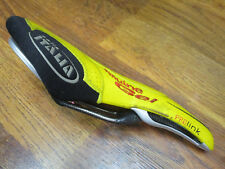 SELLE ITALIA PRO LINK CARBON GENUINE GEL YELLOW PERFORATED LEATHER RACING SADDLE