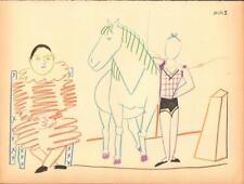 PABLO PICASSO- FARBLITHOGRAFIE VERVE 29-30 - ZIRKUS CLOWN MIT PFERD UND ARTISTIN