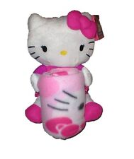 Hello Kitty pillow doll and fleece blanket  throw  NEW