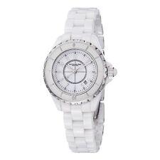Stuhrling Womens 530 11EW3 Leisure Ceramic Glamour White Ceramic Bracelet Watch