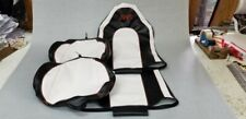 POLARIS RZR 900S 900 CUSTOM UTV SEAT COVER blk/wht/org  2015 AND UP SLIP COVER