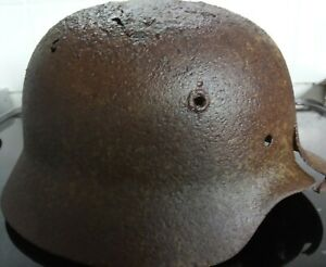 WW2 German Relic M40 helmet found Koenigsberg