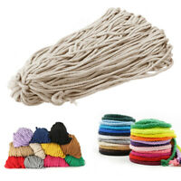 5mm 100 Yards Macrame Braided Cord 8 Ply Cotton Twisted String Rope DIY Crafts