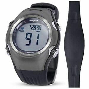Heart Rate Monitor Watch With Chest Strap Bluetooth Waterproof Cycling Fitness
