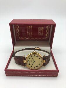 Cartier - Must de Vermeil  Vintage  30mm Argento 925 Placato Oro