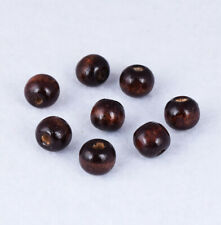 10mm Natural Wood Loose Spacer Beads Jewelry Findings DIY Bracelet Necklace