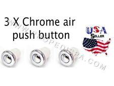 3 x Universal Chrome air push button / switch for pedicure spa chair