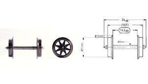 Fleischmann H0 6563-S AC Wechselstrom-Doppelspeichen-Radsatz (10 Stück) - NEU