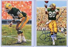 GREEN BAY PACKERS Autographed Goal Line Art Postcard Card Lot - JAMES LOFTON