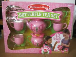 Melissa & Doug Sunny Patch Bella Butterfly Tea Set - Play Food Accessories