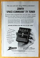 "Magazine Print Ad 1956 Zenith ""Space -Command"" TV Tuner"