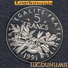 BE 1991 5 Francs Semeuse 1991 BE FDC 6 232 Exemplaires Provenant du Coffret BE