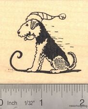 Airedale Terrier Dog Sledding Rubber Stamp J14903 WM