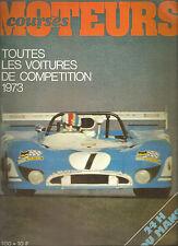 MOTEURS 100 1973 F1 F2 73 TOURISME GT 73 SPORT 2 LITRES 73 EAST AFRICAN SAFARI