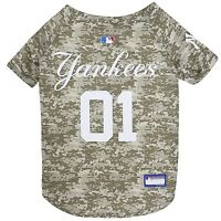 New York Yankees MLB Officially Licensed Dog Pet Camo Jersey Sizes XS-XL