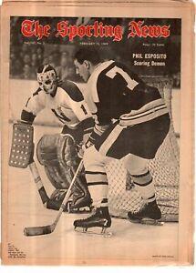 The Sporting News Newspaper Feb 15 1968 Scoring Demon Bruins Phil Esposito G