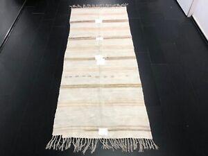 Distressed Turkish Hemp Kilim, Vintage Ethnic Kilim Rug, Traditional Kilim, C988