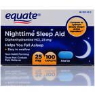 Equate Nighttime Sleep Aid 25mg 100 Mini-Caplets - Diphenhydramine HCI Exp 03/23