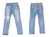 Levi's Strauss 501 Skinny Distressed Licht Blau Denim Herren Jeans W28 L32