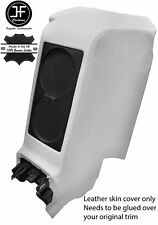 WHITE REAR CENTRE SUBWOOFER PANEL REAL LEATHER COVER FITS GT-R R35 2009-2017
