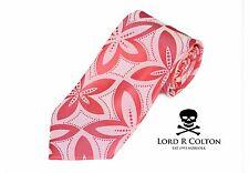 Lord R Colton Masterworks Tie Pink & Pearl Drones Woven Silk Necktie New
