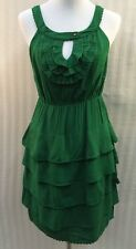Anthropologie She Who Is Beautiful Maeve Women's Sleeveless Dress Green 4 Small