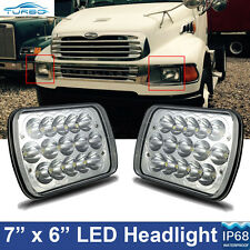 2pcs LED Headlights 7x6 Headlamp for STERLING TRUCK M7500 A9500 LT9500 DAY CAB