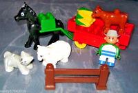 Lego Duplo Cowboy Pferd Bauernhof  Kutsche Friendly Farm aus 3092 Schaf Katze