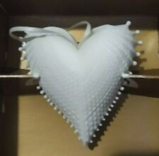 "Margaret Furlong ""Wings of Love"" Porcelain Angel Wing Shell Heart Ornament 1995"