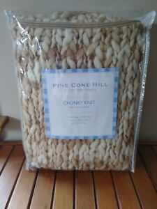Pine Cone Hill Annie Selke Chunky Knit Pillow Sham in Sand 100% Wool Euro Size