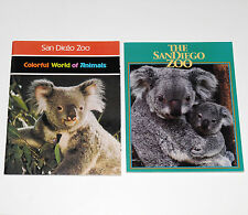 2 San Diego Zoo Wild Animal Photo Picture Books Koala Panda Tiger Bird Reptile