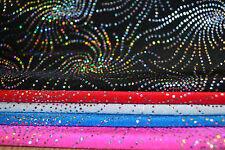 STARBURST HOLOGRAM SEQUIN LYCRA FABRIC - 4 WAY STRETCH - WIDTH 150 CM *FREE P&P*