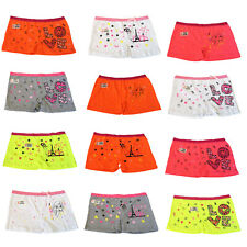 Ladies Neon Slogan Design Boxer Underwear Knickers Panties Boy Shorts Briefs