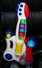 Chicco Toys DJ Guitar Music Sounds Lights Fun Learning Toy Red White 70696