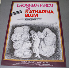 Affiche de cinéma : L'HONNEUR PERDU DE KATHARINA BLUM de VOLKER SCHLONDORFF