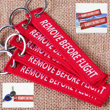 1 Embroidered REMOVE BEFORE FLIGHT Keychain Lanyard Luggage Tag Keyring Aircraft